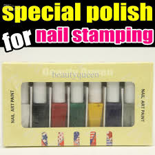 nail art special polish varnish paint specializ for nail stamping