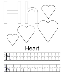 h for hearts alphabet coloring pages printable alphabet coloring