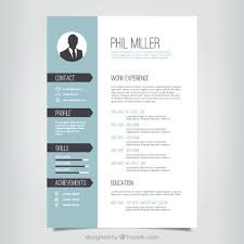 resume template flat design vector free downloadtemplate resume