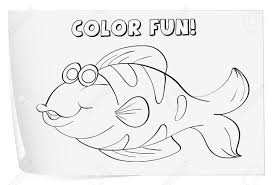 colour worksheet of a fish fish royalty free cliparts vectors
