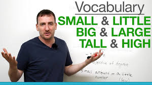 Small 6 Confusing Words Small U0026 Little Big U0026 Large Tall U0026 High Youtube