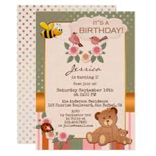 birthday party invitations for children by anne vis