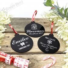 personalised acrylic tree decorations