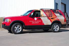 vehicle wraps floor and wall graphics serving