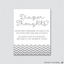 gray baby shower diaper thoughts game printable download