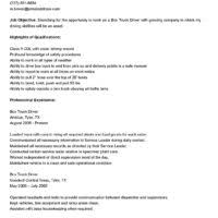 Sample Resume For Truck Driver by Job Objective And Highlights Qualifications For Delivery Driver