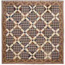 Quilted Rugs Old Italian Block Chintz Quilt For Sale At 1stdibs