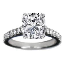 reese witherspoon engagement ring engagement ring cushion cut cathedral prong set