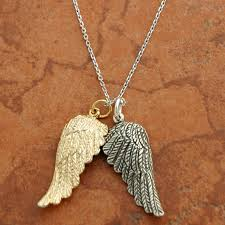 silver necklace wings images Gold and silver angel wings necklace free shipping catholic door jpg