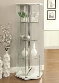 amazon com coaster 950001 home furnishings curio cabinet white