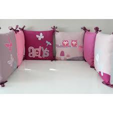 theme chambre bébé parure de lit bébé hiboux faon gris mauve prune