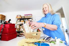Gift Basket Business Biz Buzz Elizabeth Woodson Runs Gift Basket Business Local