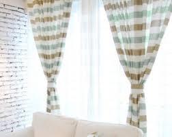 Horizontal Stripe Curtains Cabana Curtains Colorful For All The Curtain Decor Black