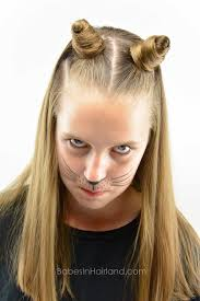 find a hairstyle using your own picture cat ears using your own hair 2 halloween hairstyle babes in