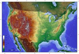 Map If The Usa by Physical Map Of The U S A Thinglink