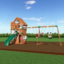 backyard discovery tucson cedar wooden swing set photo on