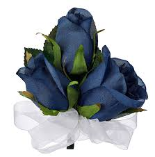 blue corsages for prom navy blue silk corsage wedding corsage prom