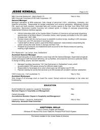 General Manager Resume Template Resume Template Examples Job Example With Education And