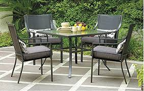 patio dining table and chairs amazon com gramercy home 5 piece patio dining table set garden