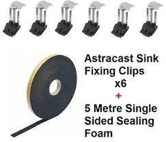 kitchen sink fixing clips kitchen sink fixing kit includes 6 x clips 5 metre sealing foam