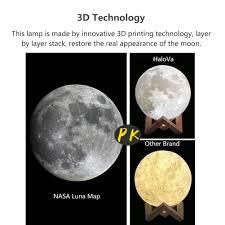 halova wch8141 night light 3d printing moon lamp lunar usb