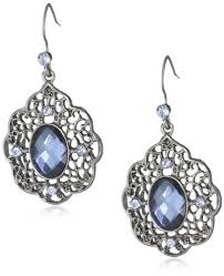 earrings and things 1928 jewelry blue bayou jet blue filigree drop earrings 1928