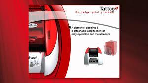 tattoo id card printer evolis tattoo 2 id card printer youtube