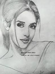 sparking snaps the image gallery art drawings of bollywood actresses