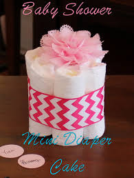 baby shower mini diaper cake u2014 pink glitter pumpkins