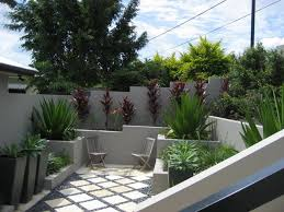 simple and easy front yard and backyard landscaping idea with two