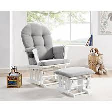 Rocking Chairs Nursery Nursery Glider Rocker Rocking Chair Ottoman Set White Baby Grey