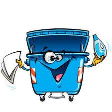imagenes animadas sobre el reciclaje feliz sonriente de la historieta de la basura bin carácter