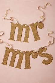 Mr And Mrs Sign For Wedding Newly Minted Chair Signs In Décor U0026 Gifts Bhldn
