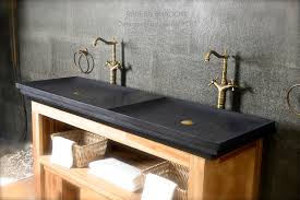 trough sink with 2 faucets 2 faucets double trough bathroom sink black granite 63 shanxi pure