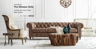 Fulham Leather Sofa Arhaus Tufted Leather Sofa Tags Arhaus Leather Sofa American