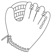 glove softball coloring page sports pages of kidscoloringpage