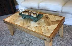 Coffee Table From Pallet Chevron Pallet Coffee Tables Pallet Wood Projects