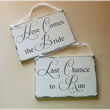 Wedding Signs Template Shop Wedding Signs Here Comes The Bride On Wanelo