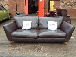 Marks And Spencers Sofa Bed Marks And Spencers Barletta Leather 3 Seater Sofa Aherns Furniture