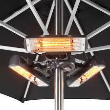 patio heater bulbs heatmaster usbsr24 2 4kw slimline umbrella mount infrared heater