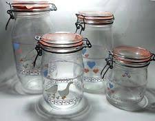 kitchen glass canisters clear vintage original kitchen glass canisters ebay