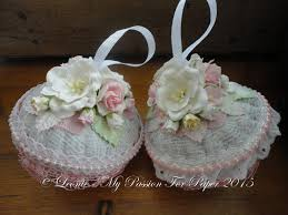 shabby chic christmas ornaments tutorial lavish laces dtp