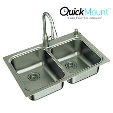 Shop Moen Kelsa In X In DoubleBasin Stainless Steel Dropin - Stainless steel kitchen sink manufacturers