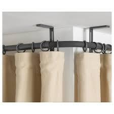 hugad curtain rod corner connector silver colour ikea