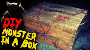 monster in a box diy halloween haunted house prop youtube