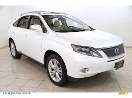 lexus jeep 2010 2010 lexus rx 450h awd hybrid in starfire white pearl 030067