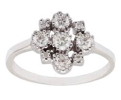 cluster engagement ring white gold cluster ring gillian conroy jewelry