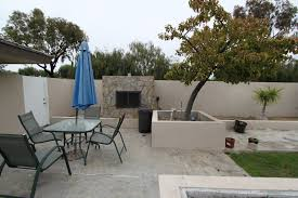 amusing corner outdoor fireplace with concrete blocks garden and