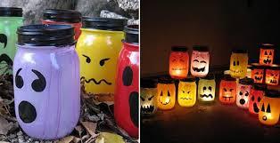 how to make halloween painted jar luminaries diy u0026 crafts