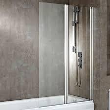 phoenix double square bath shower screen uk bathrooms